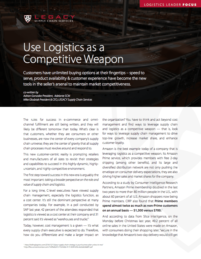 Use Logistics as a Competitive Weapon