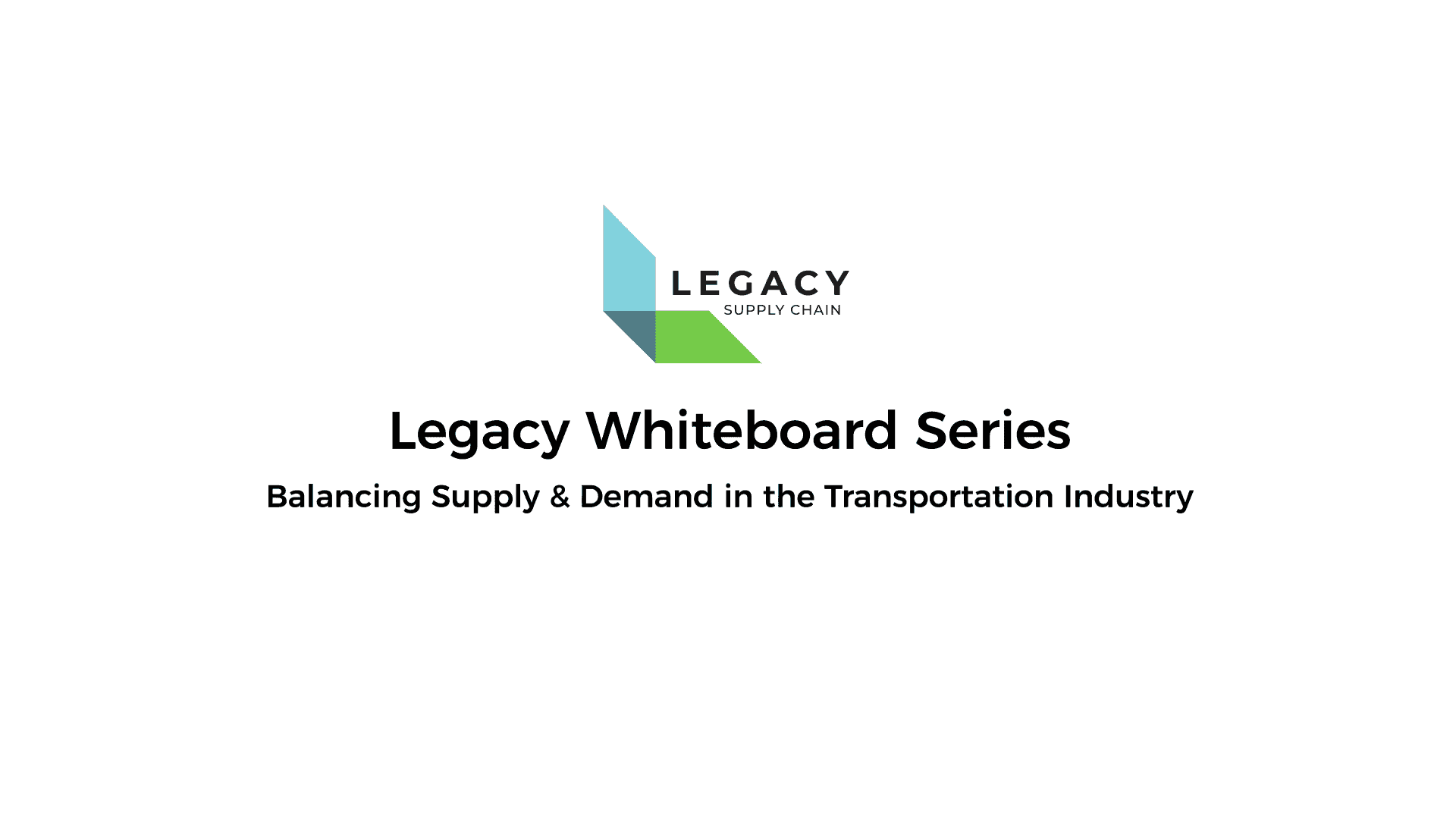 Balancing Supply & Demand in the Transportation Industry